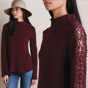 Anthropologie Knitted & Knotted Mattina Laced Pull